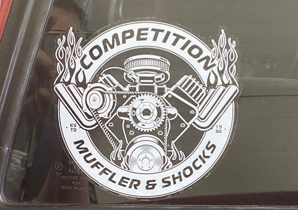 Competition Muffler Decal